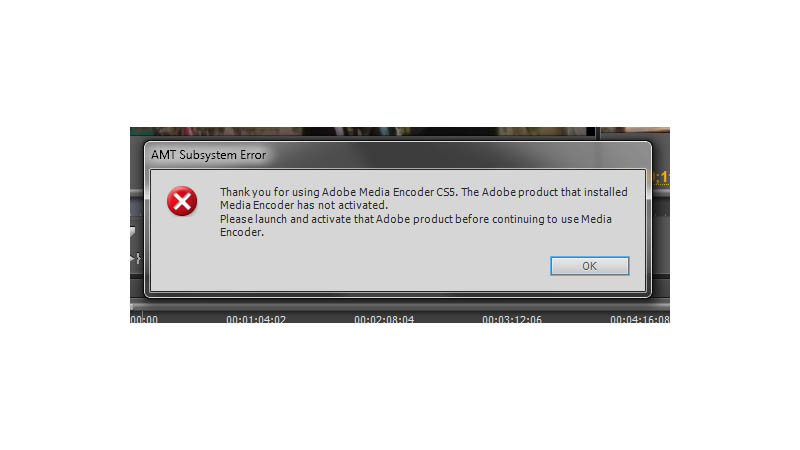 The Adobe product that installed Media Encoder has not activated
